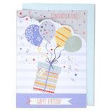 EASE(イーズ) バースデーカード GB1928 ブルーの風船│カード・ポストカード バースデー・誕生日カード