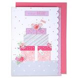 EASE(イーズ) バースデーカード GB1929 ピンクのプレゼント│カード・ポストカード バースデー・誕生日カード