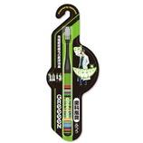 GReeeeN 3列ヘッドラバーグリップ超極細毛ハブラシ ブラック 92(ボーダー柄)