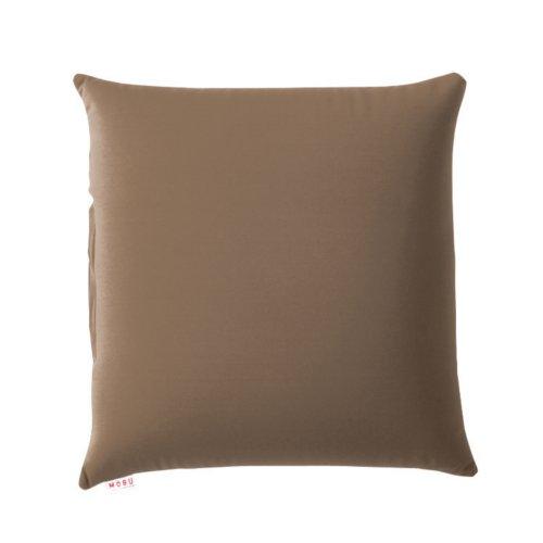 【ふんわり柔らか気持ちのいい感触】 MOGU 背当てクッション 45×45cm ブラウン