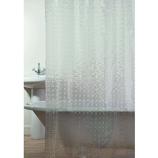 TM 3Dシャワーカーテン サターン クリアー 1枚入│お風呂用品・バスグッズ シャワーカーテン