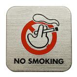 タマカネ サインプレート NO SMOKING シルバー