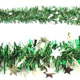 【クリスマス】 エクセルポイント スターティンセルガーランド 6954 グリーン
