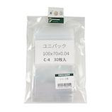 ユニパック 小分け C−4 30枚│梱包資材 ビニール袋・ポリ袋