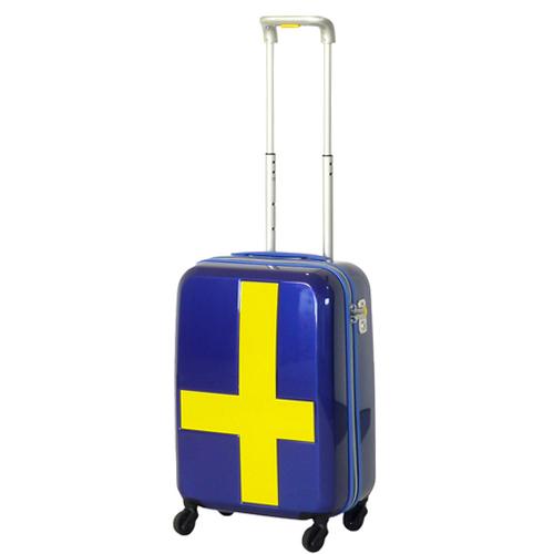 イノベーター(innovator) スーツケース ジッパー INV48T ブルー×イエロー 38L