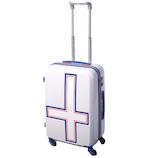 イノベーター(innovator) スーツケース ジッパー INV55 ホワイトトリコ 50L