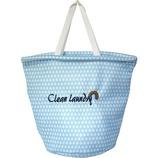 丸栄Clean ランドリーバッグL Drop ブルー