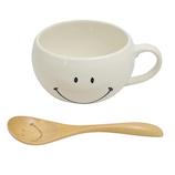 スマイリーフェイス(Smiley Face) スプーン付スープマグ ホワイト