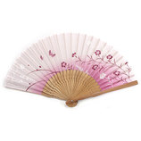 山岡白竹堂 婦人用扇子 はんなり和花 なごみ ピンク