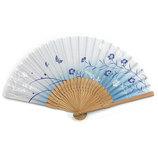 山岡白竹堂 婦人用扇子 はんなり和花 なごみ ブルー