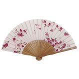 山岡白竹堂 婦人用扇子 はんなり和花 やわら咲き ピンク