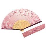山岡白竹堂 婦人用扇子 はんなり和花 満開桜セット ピンク│夏物雑貨 扇子・うちわ(団扇)