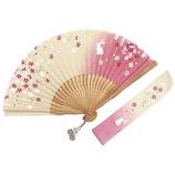 山岡白竹堂 さくらウサギセット ピンク│夏物雑貨 扇子・うちわ(団扇)