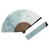 山岡白竹堂 紳士用扇子 和風伝統柄 夏風情セット とんぼ 扇袋付