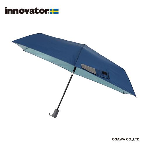 innovator 晴雨兼用自動開閉傘 ディープブルー