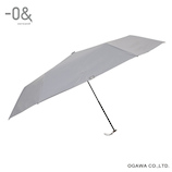 ゼロアンド(−0&) 軽量ワイド オールウェザー グレー│レインウェア・雨具 折り畳み傘