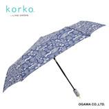 korko 自動開閉傘 クローバーの花