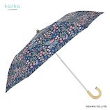 コルコ(korko) 晴雨兼用2段折傘 フラワリー