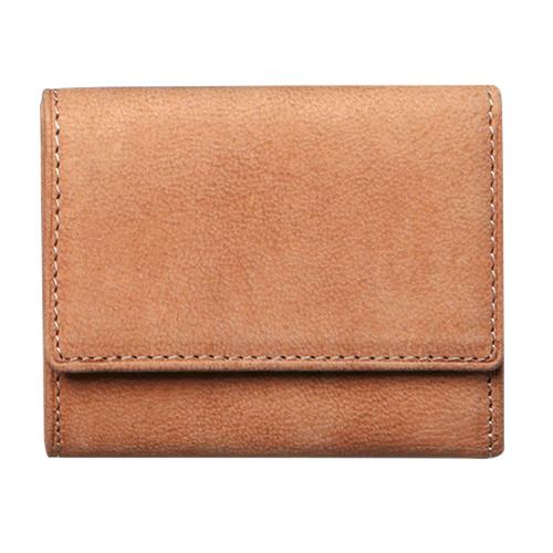 ジャルックススタイル(JALUX STYLE) Snobbist(スノビスト) 駱駝革三つ折りコンパクト財布 デザート