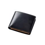 グレンフィールド(GLENFIELD) BRITISH GREEN ブライドルレザー 二つ折り財布 ブラック
