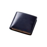 ジャルックススタイル(JALUX STYLE) BRITISH GREEN ブライドルレザー 二つ折り財布 ネイビー