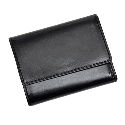 グレンフィールド(GLENFIELD) オリーチェレザー 3つ折財布 ブラック