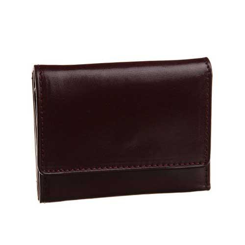 グレンフィールド オリーチェレザー 3つ折財布 バーガンディ