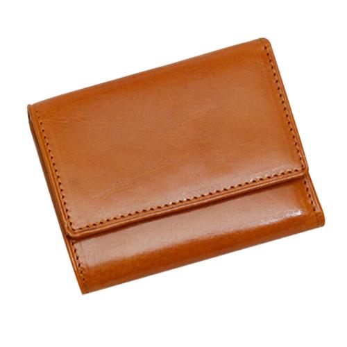 グレンフィールド(GLENFIELD) オリーチェレザー 3つ折財布 ゴールド