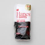ヘインズ(Hanes) JapanFi H5320 L ホワイト×ブラック 2枚入│アウトドアウェア