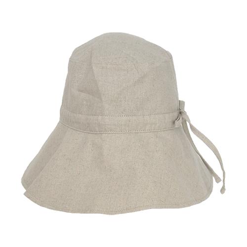 東急ハンズ限定 内側シルク素材幅広UVケア帽子幅広つば 砂色