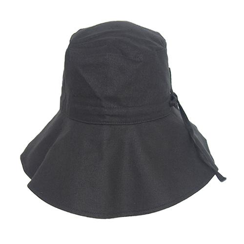 <東急ハンズ> 東急ハンズ限定 内側シルク素材幅広UVケア帽子幅広つば 鉄黒画像