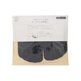 絹屋×東急ハンズ限定 内側指先シルク使用 かくれ5本指靴下 墨
