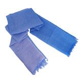 東急ハンズ限定 UV麻ストール 大判サイズ グラデーション柄 ブルー