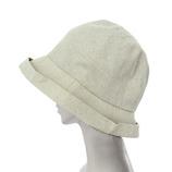 絹屋 内側シルクUVケア帽子 ネックカバー TH5339 01砂色