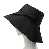 絹屋 内側シルクUVケア帽子 幅広つば TH5340 02鉄黒