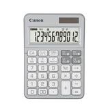 キャノン(Canon) カラフル電卓 ミニ卓上 12桁 シルバー