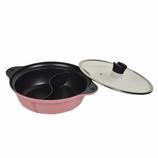 パール金属 マルチテイスト 二食鍋 HB−2550 28cm ピンク IH対応