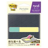 3M ポスト・イット 強粘着ふせん/ノート ポータブルシリーズ ポップアップタイプ ディスペンサー付き POFP-COM1
