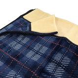 ブレスサーモ 衿付ニューマイヤー毛布 2010-11145 ブルー 140×200cm