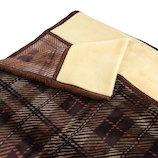 ブレスサーモ 衿付ニューマイヤー毛布 2010-11145 ブラウン 140×200cm