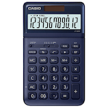 カシオ(CASIO) 電卓 スタイリッシュ ジャストタイプ JF-S200-NY-N ネイビー│オフィス用品 電卓