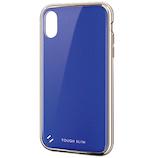 【iPhoneXR】 エレコム(ELECOM) TOUGH SLIM 女子向 サイドメッキ PM-A18CTSGMBU ブルー