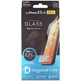 【iPhoneXS/iPhoneX】 エレコム×東急ハンズ iPhoneXS/X(5.8inch)用ガラスフィルム 0.21mm ドラゴントレイル HA-A18BFLGGDT
