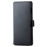 【Galaxy S10】 エレコム(ELECOM) NEUTZ(ニューツ) ソフトレザーケース/磁石付 PM-GS10PLFY2BK ブラック