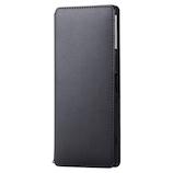 【Xperia 1】 エレコム(ELECOM) NEUTZ(ニューツ) ソフトレザーケース/磁石付 PM-X1PLFY2BK ブラック