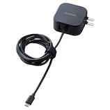 エレコム(ELECOM) PowerDelivery準拠 USB AC充電器(ケーブル1.5m) MPA-ACCP08BK ブラック