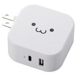 エレコム(ELECOM) PowerDelivery準拠 USB AC充電器(C+USB) MPA-ACCP10WF ホワイトフェイス