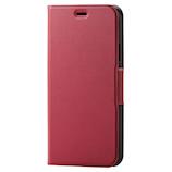 【iPhone11】 エレコム(ELECOM) ウルトラスリム ソフトレザーケース/薄型/磁石付 PM-A19CPLFURD レッド