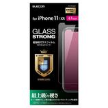 【iPhone11/iPhoneXR】 エレコム(ELECOM) ガラスフィルム セラミックコート PM-A19CFLGGC 6.1インチ│携帯・スマホアクセサリー 液晶保護フィルム