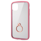 【iPhone11】 エレコム(ELECOM) TOUGH SLIM LITE フレームカラー/リング付 PM-A19CTSLFCRPN ピンク